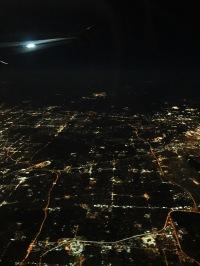 Flying over Chicago.