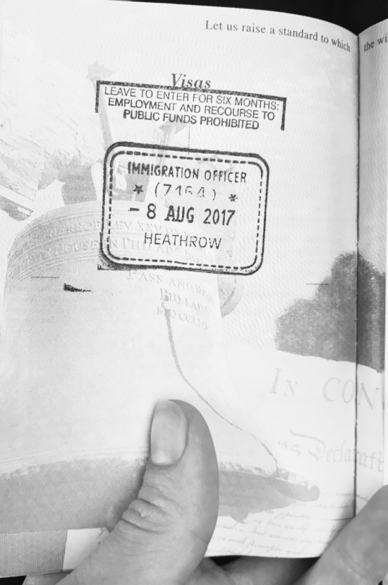 My first passport stamp!
