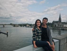 The Maas is just so photogenic, especially with Alanna & I.