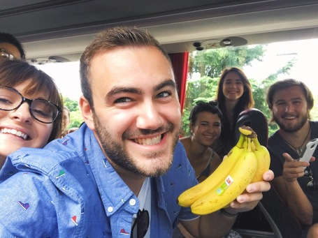 Sam & his bananas!