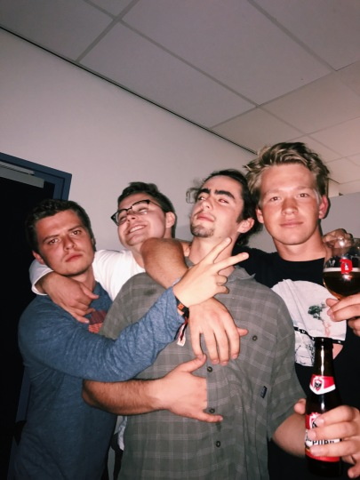 September 2 - Great evening in the kitchen of the guesthouse with Nikita, Derek, Conor, and Ben.